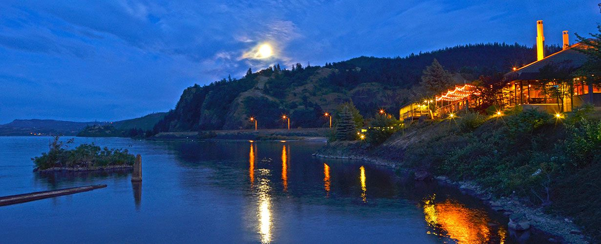 Summer moonrise over Riverside