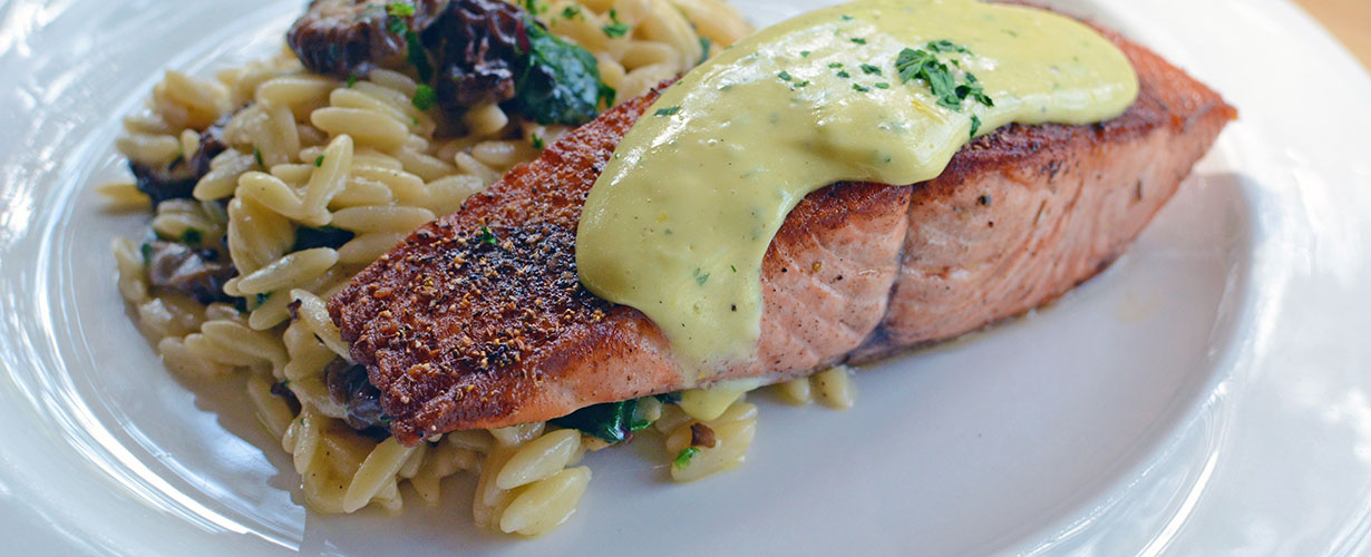 Salmon and Orzo