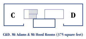 Mt Adams and Mt Hood Rooms